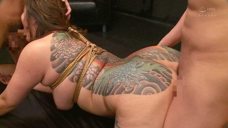 Pics of Botan Koino with Japanese tattoo doing bondage sex