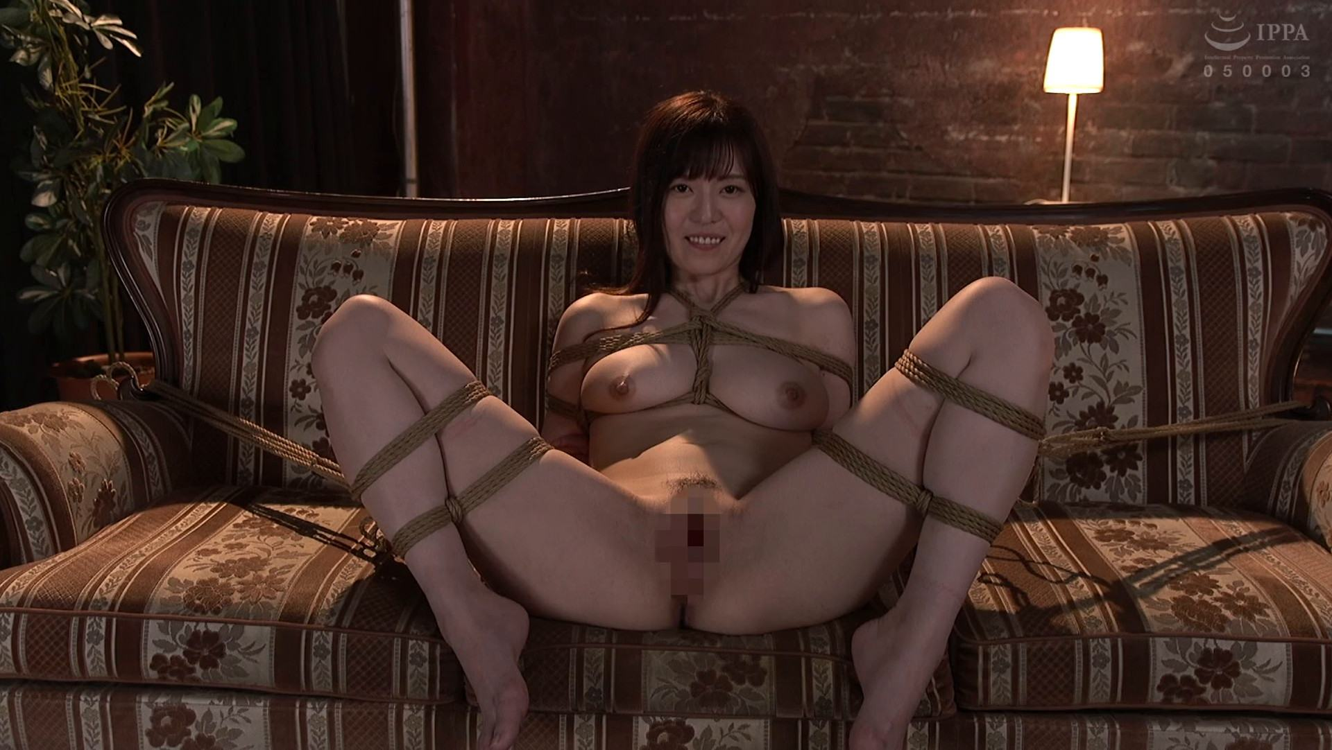 Porn pics of Japanese pornstar Iori Nanase being shibari