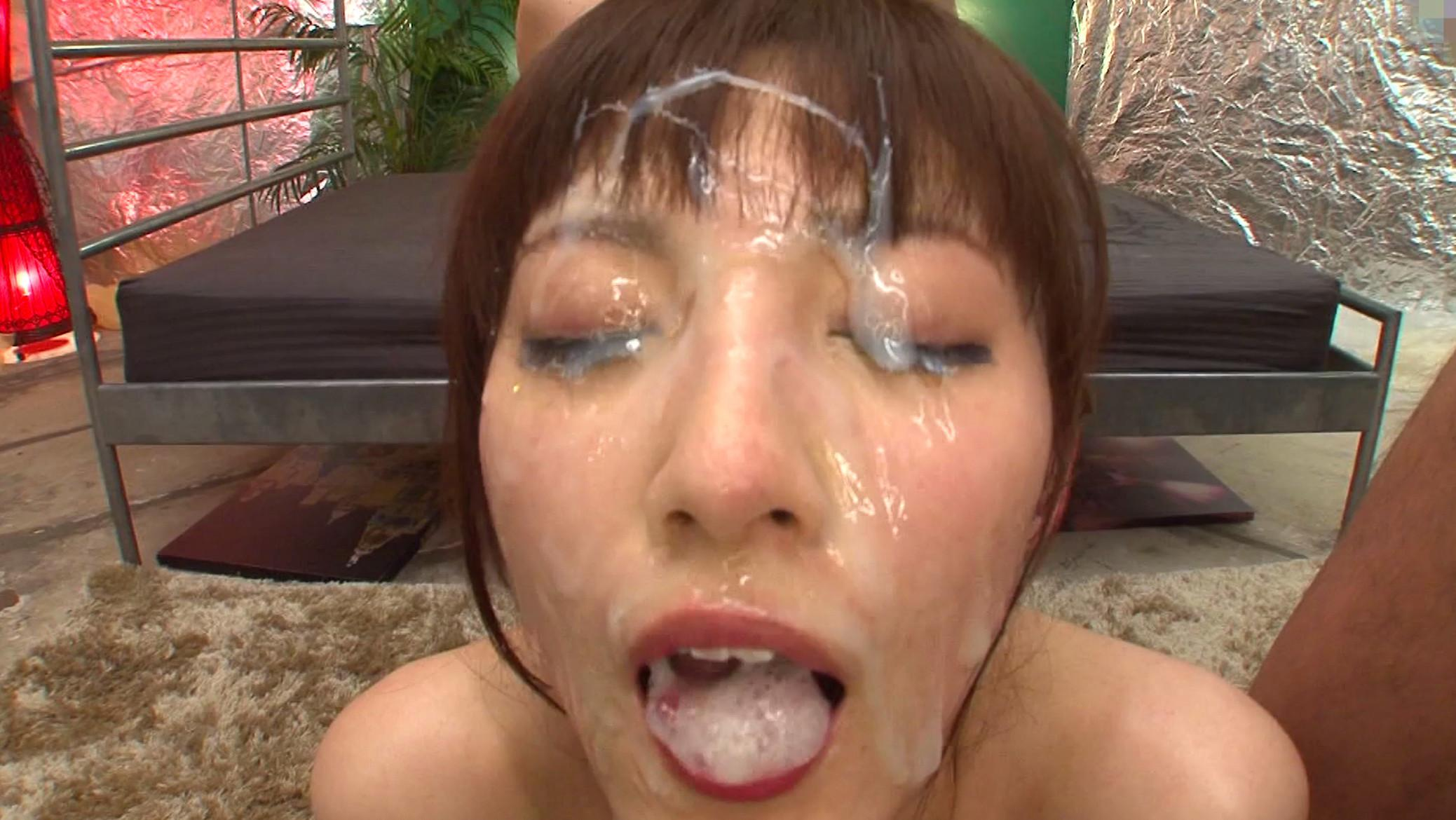 Porn pics of Japanese girl being bukkake