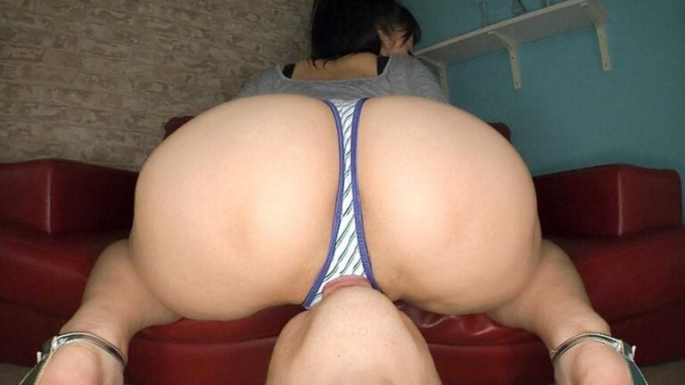 Porn pics of Japanese pornstar Arisa being cunnilingus while pointing her big ass at the camera