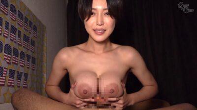 Porn pics of Japanese pornstar Mio Kimijima giving tits fuck