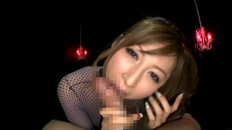 Porn pics of a Japanese beauty giving a POV blowjob