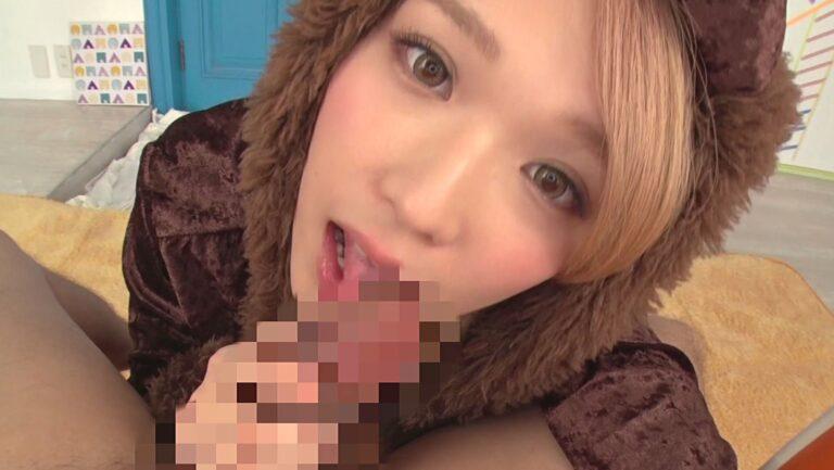 Porn pics of Japanese porn star Sora Shiina giving a blowjob