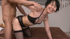Porn pics of Japanese mature Mitsuyo Shono having doggy style sex