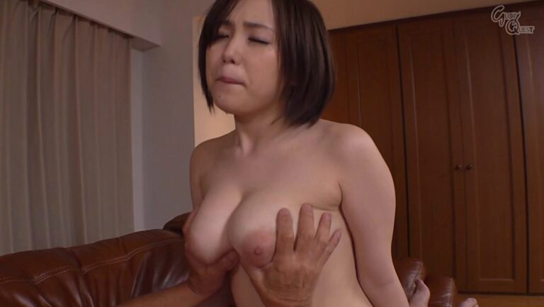 Porn pics of Japanese pornstar Nene Tanaka being rubbed by her father-in-law