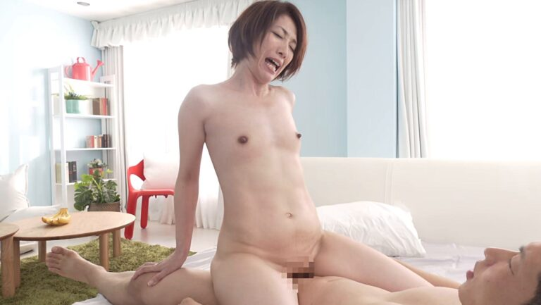Porn pics of Japanese MILF Rika Yamaguchi fucking in cowgirl position