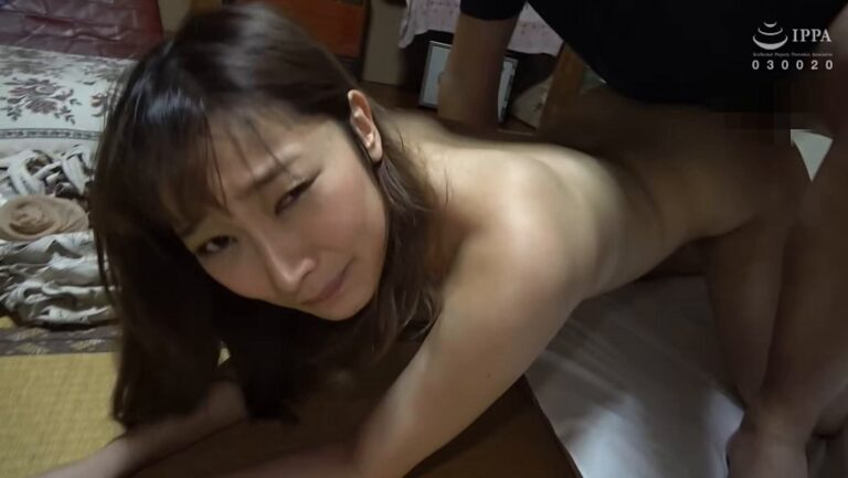 Porn pics of Japanese MILF Rika having sex in doggy style