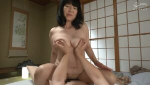Image of Japanese 60-year-old mature woman Yumika Wada fucking in cowgirl position